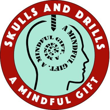 Logo of Skulls and Drills - a 501(c)(3) non-profit organization with a mission is to make brain surgeries possible for all those in the world who need it but cannot afford it.