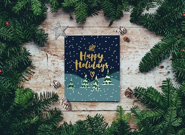A picture of a Happy Holidays greeting card
